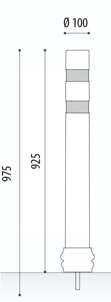 measures A-Eco DT semiflexible bollards screw