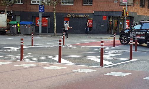 aflex dt fixed bike lanes installed